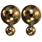 Beli Selebriti Perhiasan Manik Manik Mutiara Pacu Anting Anting Giwang Telinga Busi Double Bubble Bros Baru