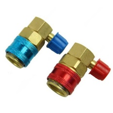 Cenita-Auto AC System R134a Quick Connectors/Adapters/Couplers Low/High Set HVAC Freon - intl
