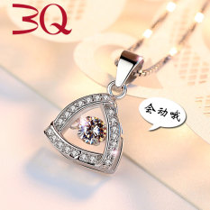 LINDOWIG Kalung Perak S925 Detak Jantung Liontin Perempuan Versi Jepang dan Korea