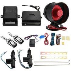 Cestlafit 2 Pintu Remote Keyless Entry Central Kunci Mengunci Kit dan Car Alarm-Intl