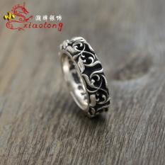 Harga Termurah Ch Modis 925 Sterling Silver Pria Dan Wanita Retro Thai Perak Cincin