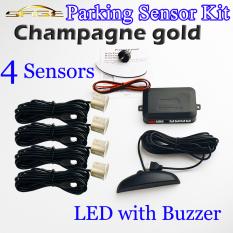 Champagne Gold LED Mobil Kit Sensor Parkir 4 Sensor 22mm Tampilan Monitor Terbalik Radar Cadangan Sistem 12 V