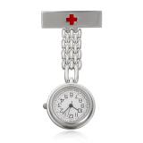 Toko Channy Stainless Steel Medis Dokter Perawat Cross Bros Jubah Fob Quartz Pocket Watch Silver Intl Termurah Tiongkok