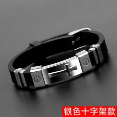 Beli Chaonan Korea Fashion Style Silikon Siswa Bracelet Pria Gelang Pakai Kartu Kredit