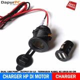 Jual Charger Hp Di Motor Dual Usb Port Output 1 Ampere Electrabasic Asli