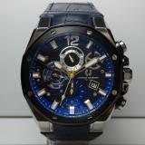 Jual Charles Jourdan Jam Tangan Pria Charles Jourdan Cj1014 1385C Dual Time Silver Black Stainless Steel Leather Blue Murah