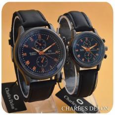 Charless Delon - Jam Tangan Couple - Leather Strap - CS-04