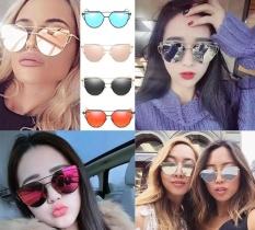 Charming Kucing Mata Sunglasses 2017 Wanita 17 Warna Logam Kebesaran Mata Kucing Kacamata Wanita Merek Uv400 Cermin Lentes Bingkai Warna Emas Intl Oem Diskon