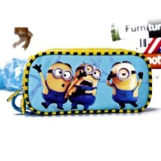 Murah 3D Kartun Dicetak YellowMinions Pensil Lucu Case On Fashion Diskon Kosmetik Case-Internasional