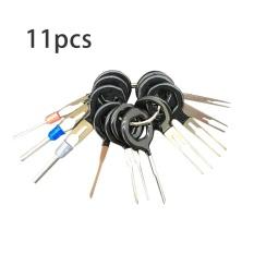 Kualitas Cheer 11 Pcs Mobil Penghapusan Terminal Konektor Wiring Extractor Puller Release Pin Hitam Intl Oem