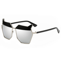 CHEER Baru Fashion Vintage Bingkai Logam Desain Retro Ultraviolet-proof Sunglasses Golden Frame Silver Lensa