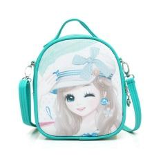 Dapatkan Segera Children Shoulder Bag Girls Travel Bag Mini Kindergarten Cartoon Cute Baby G*rl Backpack 17×9×20Cm Intl