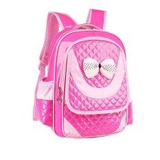 Anak-anak Tas Ransel Bahu Sekolahnya untuk Primer Gadis Hot Pink