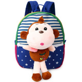 Children S Sch**l Bags For Boys And Girls In Kindergarten Kids 1 3 Years Baby Bag Cute Backpack Blue Monkey Terbaru
