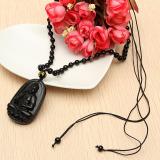Jual Chisese Yang Alami Hitam Seperti Obsidian Ukiran Buddha Beruntung Amulet Liontin Nacklace