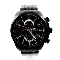 Chonoforce Chronograph Watch Jam Tangan Pria - Hitam Rosegold - Strap Stainless Steel  - 5236MCFB