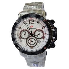 Chornoforce Jam Tangan Pria -Stainless Steel - Silver - CR5259 Silver White