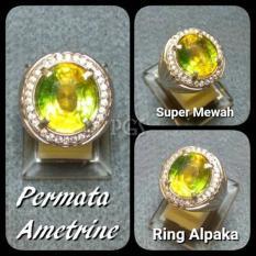 CINCIN BATU AKIK PERMATA AMETRINE RING ALPAKA SUPER GLAMOUR INDAH MEMPESONA TERMURAH !!!