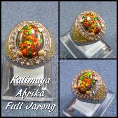 CINCIN BATU AKIK PERMATA KALIMAYA AFRIKA FULL JARONG ( Play Of Color) JAMIN JARONG MAIN SUPER MURAH !!!