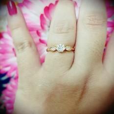 cincin bunga kecil simple xuping
