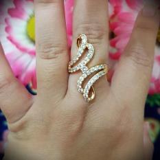 Toko Cincin Cantik Xuping Gelombang Gold Online Terpercaya