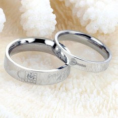 cincin couple / cincin nikah / cincin tunangan Silver Key Lock Love Ring