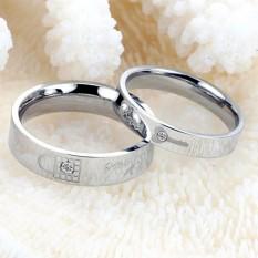 Toko Cincin Couple Cincin Nikah Cincin Tunangan Silver Key Lock Love Ring Terdekat