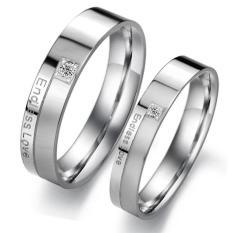 cincin couple / cincin tunangan / cincin nikah titanium anti karat dan hitam - 02