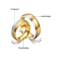 cincin couple / cincin tunangan / cincin nikah titanium anti karat dan hitam - 102