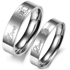 cincin couple / cincin tunangan / cincin nikah titanium anti karat dan hitam - 13