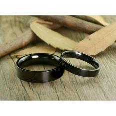 cincin couple / cincin tunangan / cincin nikah titanium anti karat dan hitam - 18