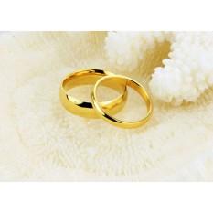 cincin couple / cincin tunangan / cincin nikah titanium anti karat dan hitam - 25