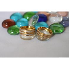 cincin couple / cincin tunangan / cincin nikah titanium anti karat dan hitam - 32
