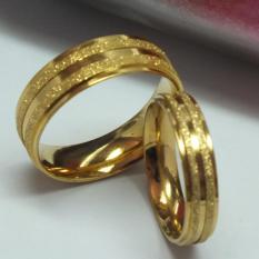 cincin couple / cincin tunangan / cincin nikah titanium anti karat dan hitam - 33