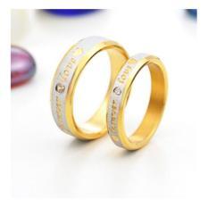 cincin couple / cincin tunangan / cincin nikah titanium anti karat dan hitam - 39