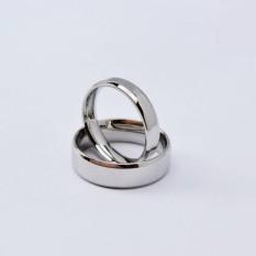 cincin couple / cincin tunangan / cincin nikah titanium anti karat dan hitam - 40