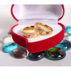 cincin couple / cincin tunangan / cincin nikah titanium anti karat dan hitam - 44