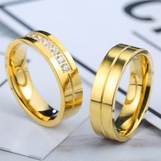 cincin couple / cincin tunangan / cincin nikah titanium anti karat dan hitam - 52
