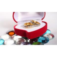 cincin couple / cincin tunangan / cincin nikah titanium anti karat dan hitam - 55