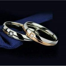 cincin couple / cincin tunangan / cincin nikah titanium anti karat dan hitam - 90