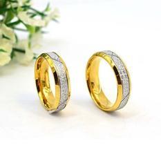 cincin couple / cincin tunangan / cincin nikah titanium anti karat dan hitam - 91