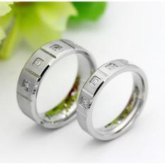 cincin couple / cincin tunangan / cincin nikah titanium anti karat dan hitam - 98