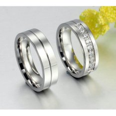 Cincin Couple - Cincin Tunangan - Cincin Nikah Titanium CC051