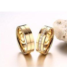Cincin Couple - Cincin Tunangan - Cincin Nikah Titanium CC052