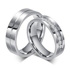 Cincin Couple Diamond Titanium