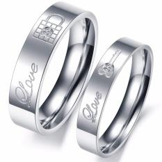 (Bisa Bayar Di Tempat) Cincin Couple / Kawin / Tunangan Titanium Original CC032