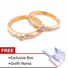 Cincin Couple Tunangan dan Nikah RK-45 Lapis Emas Exlusive