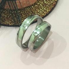 Cincin Couple Wanita Pria Untuk Tunangan Murah Fashion Trendy Design