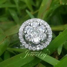 Cincin Emas 18K Berlian Eropa Asli Putih Tunangan Pernikahan Murah Z0X - Omhve6