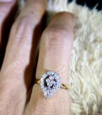 Cincin Emas Berlian Wanita Gold Natural Diamond Eropa Asli Kawin Nikah Tunangan Murah